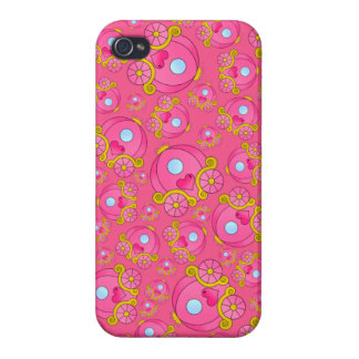 Pink princess carriage pattern iPhone 4 cover