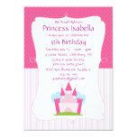 Pink Princess Castle Birthday Custom Invites