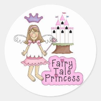 Pink Princess Classic Round Sticker