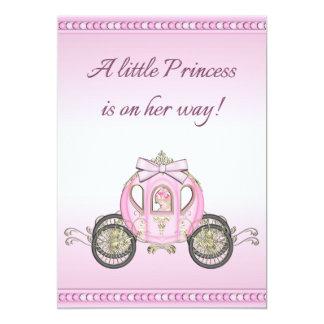 Pink Princess Coach Girls Baby Shower Card