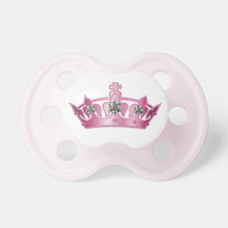 Pink Princess Crown Baby Pacifier