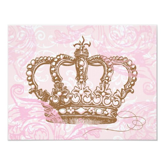 Pink Princess Crown Invitations Zazzlecom