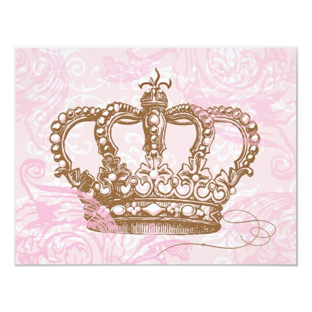 Pink Princess Crown Invitations | Zazzle.com