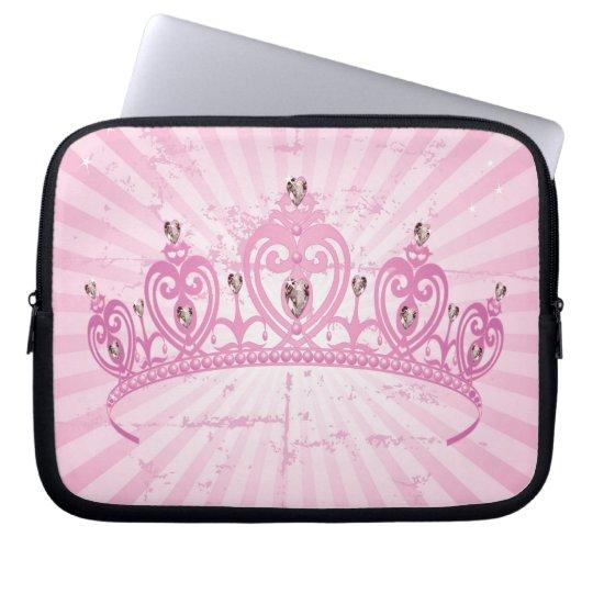 Pink Princess Crown Laptop Sleeve Protective Case