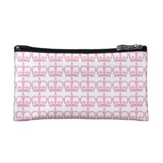 Pink Princess Crown Makeup Bag