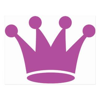 pink princess crown post card