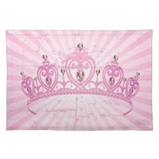 Pink Princess Crown Tiara Jeweled Girly Placemat