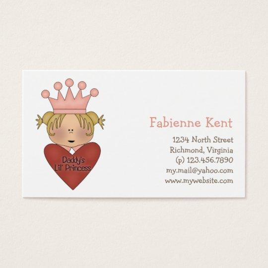 Pink Princess · Daddy's Lil' Princess Business Card