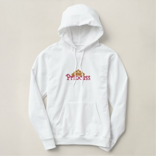 Pink Princess Embroidered Crown Sweatshirt