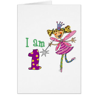 Pink princess fairy (age 1) card