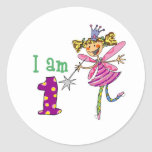 Pink princess fairy (age 1) stickers