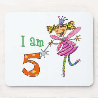 Pink princess fairy mouse pad