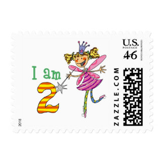 Pink princess fairy stamps