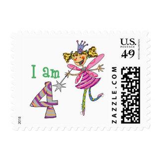 Pink princess fairy postage