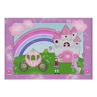 Pink Princess Fairy Tale Poster