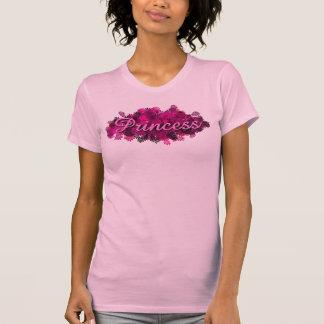 Pink Princess Flowers T Shirts
