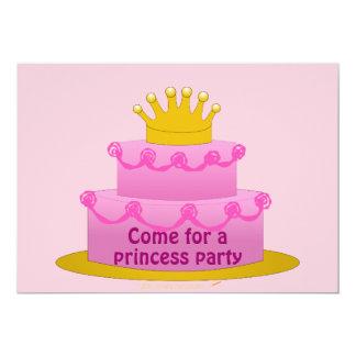 Pink Princess Girls Birthday Party Invitations