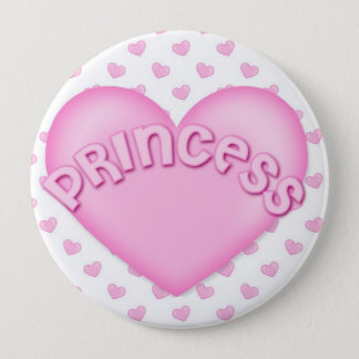 Pink Princess Heart Backpack Pins buttons