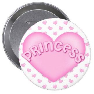 Pink Princess Heart Backpack Pins buttons