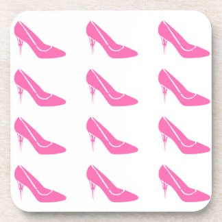 Pink Princess High Heel Shoes Cork Coasters