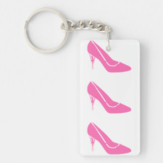 Pink Princess High Heel Shoes Keychain