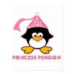 Pink Princess Penguin Post Cards