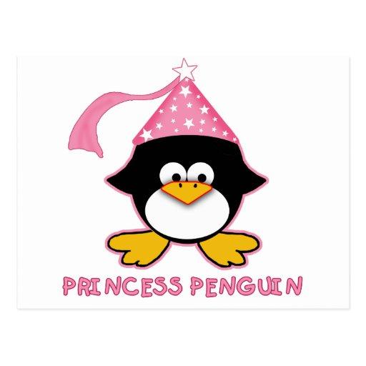Pink Princess Penguin Postcards