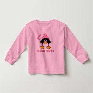 Pink Princess Penguin Toddler T-shirt