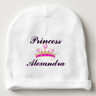 Pink Princess Personalized Baby Girl Hat Baby Beanie