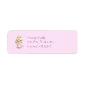Pink Princess Personalized Label