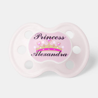 Pink Princess Personalized Pacifier BooginHead Pacifier