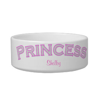 Pink Princess Pet Bowl