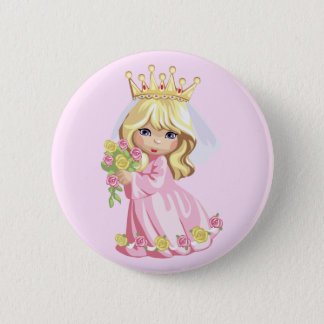 Pink Princess Pinback Button