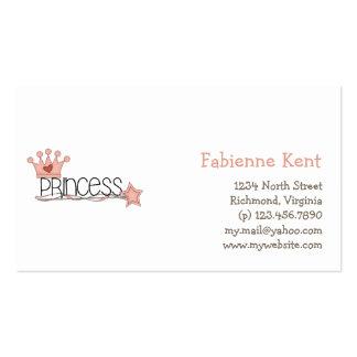 Pink Princess · Princess Wordart Business Card Templates