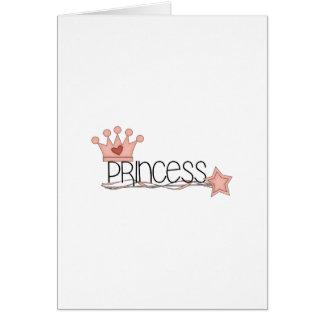 Pink Princess · Princess Wordart Greeting Card