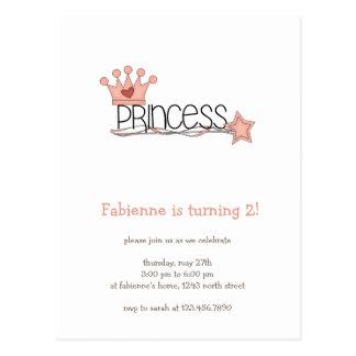 Pink Princess · Princess Wordart Postcard
