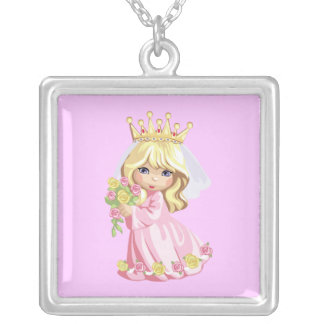 Pink Princess Silver Plated Necklace