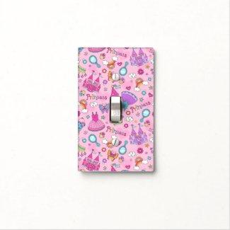 Pink Princess Single Toggle Light Switch Cover