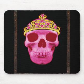 Pink Princess Skull Mouse Pad