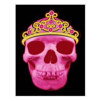 Pink Princess Skull Postcard