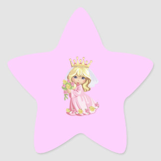 Pink Princess Star Sticker