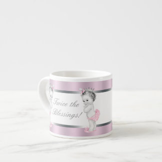 Pink Princess Twin Girl Baby Cups