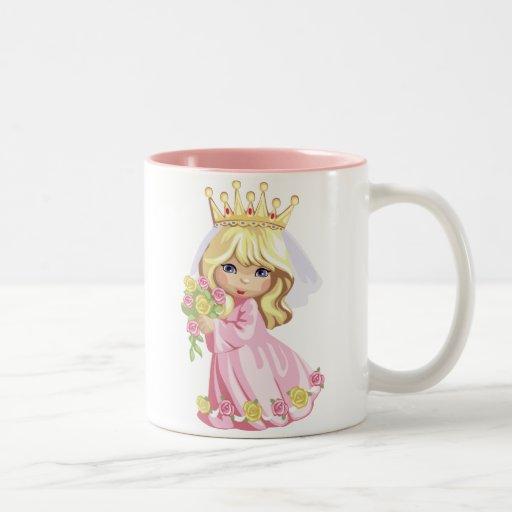 Pink Princess Two-Tone Coffee Mug