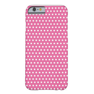Pink printed hull with white peas barely there iPhone 6 case