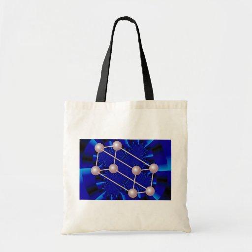 pink prism - blue rays Orbit Budget Tote Bag