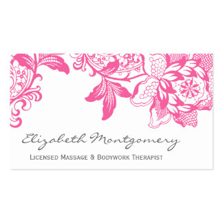Pink Professional Massage Yoga Business Card