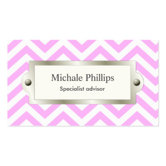 Pink professional serious classic elegant window business card