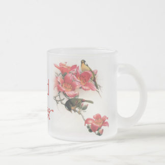 Pink Profusion Bird Lover Mug