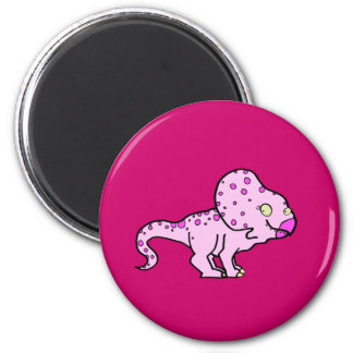 Pink Protoceratops 2 Inch Round Magnet