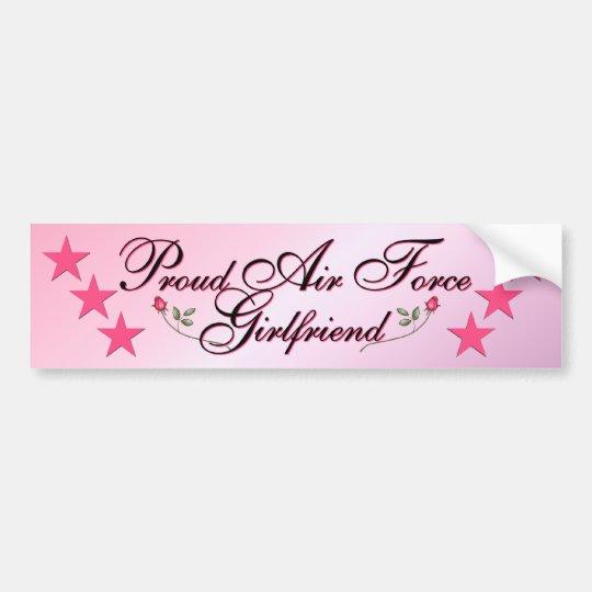 Pink & Proud Air Force Girlfriend Bumper Sticker